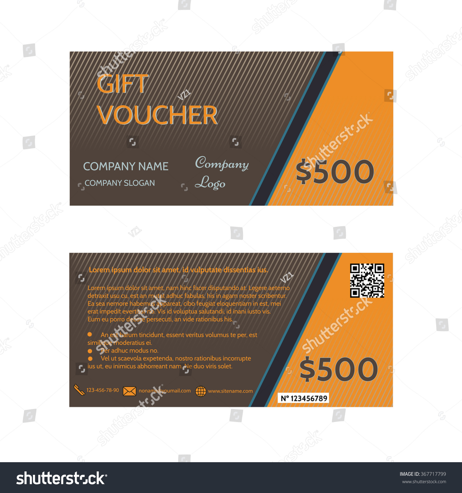 gift voucher template discount certificate coupon design template