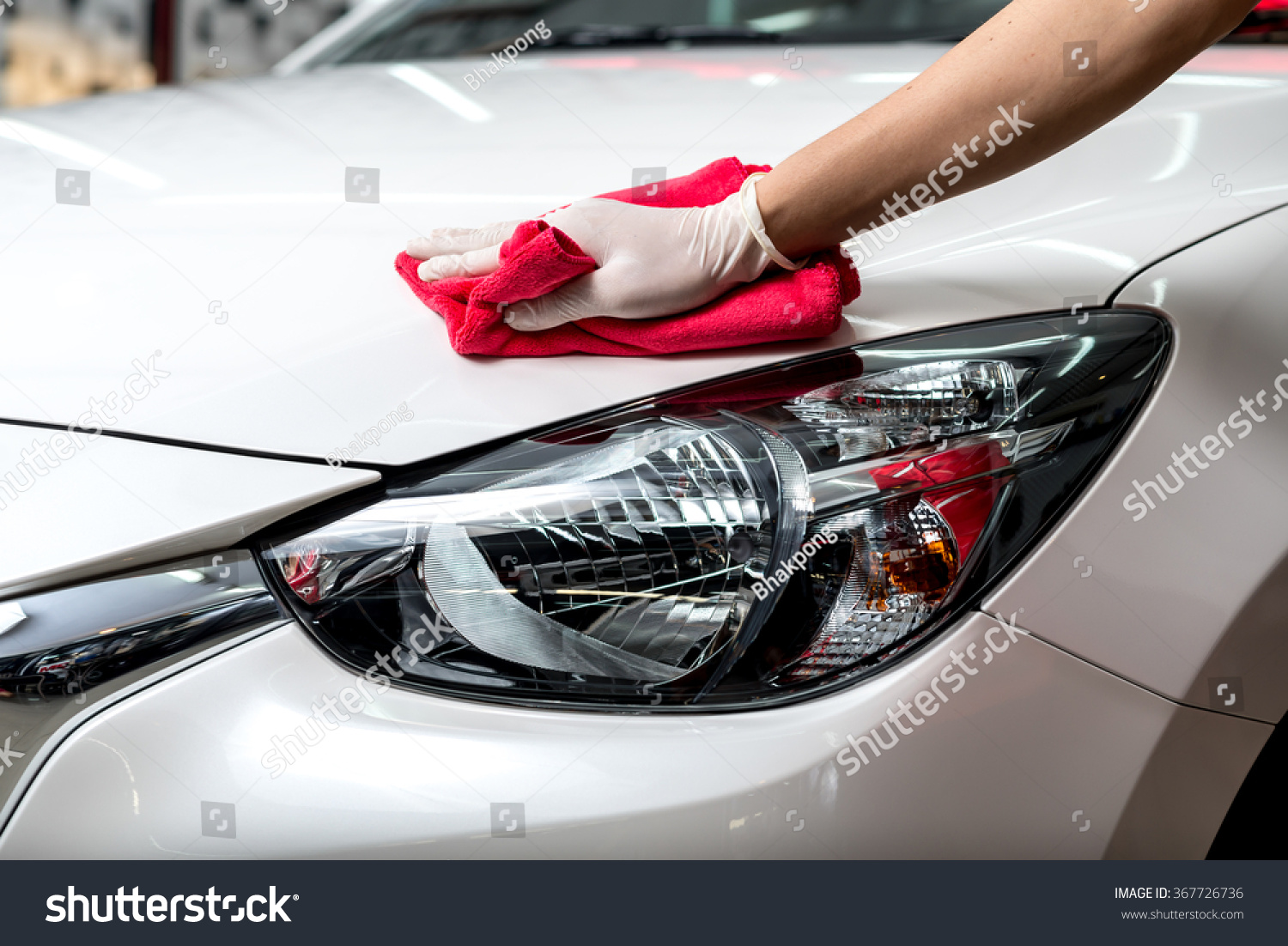 car detailing series worker cleaning white stock photo 367726736 shutterstock. Black Bedroom Furniture Sets. Home Design Ideas