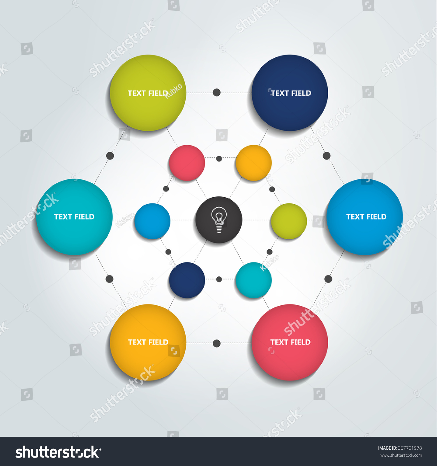 Infographic flow chart color circles chart stock vector 367751978 infographic flow chart color circles chart geenschuldenfo Image collections