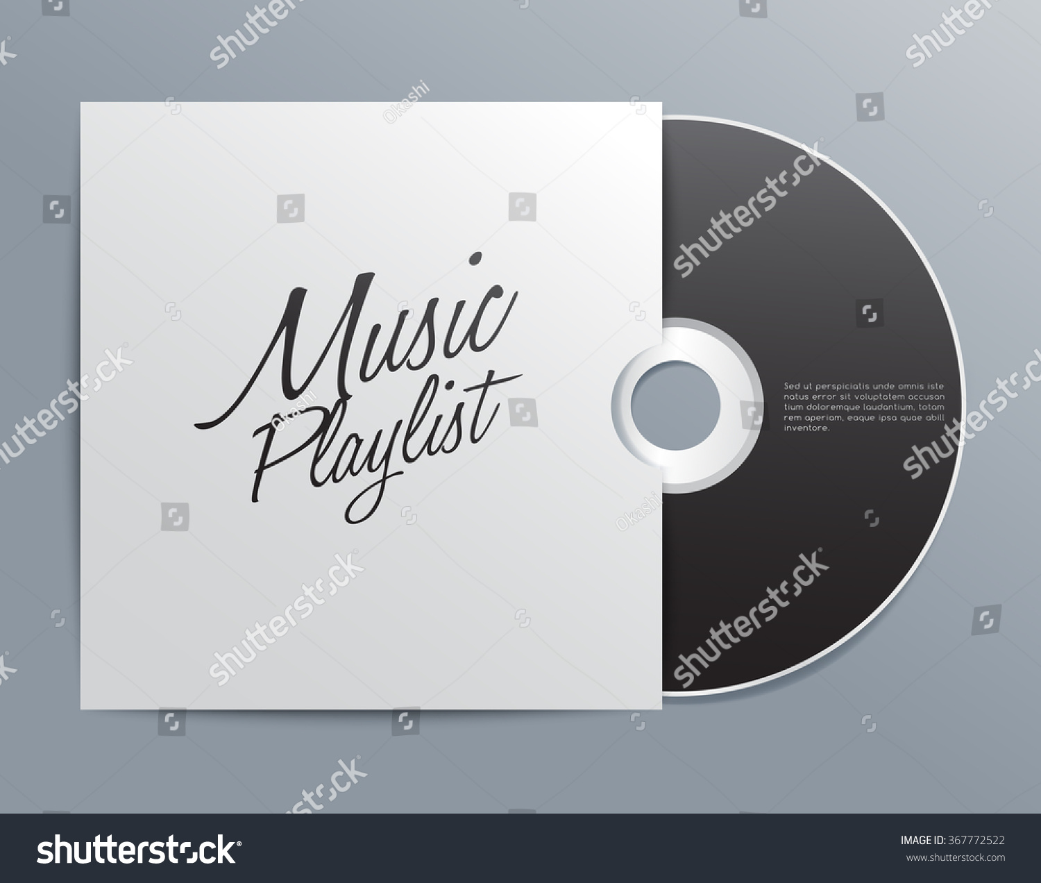 Cd Cover Template Vector Illustration Stock Vector ...