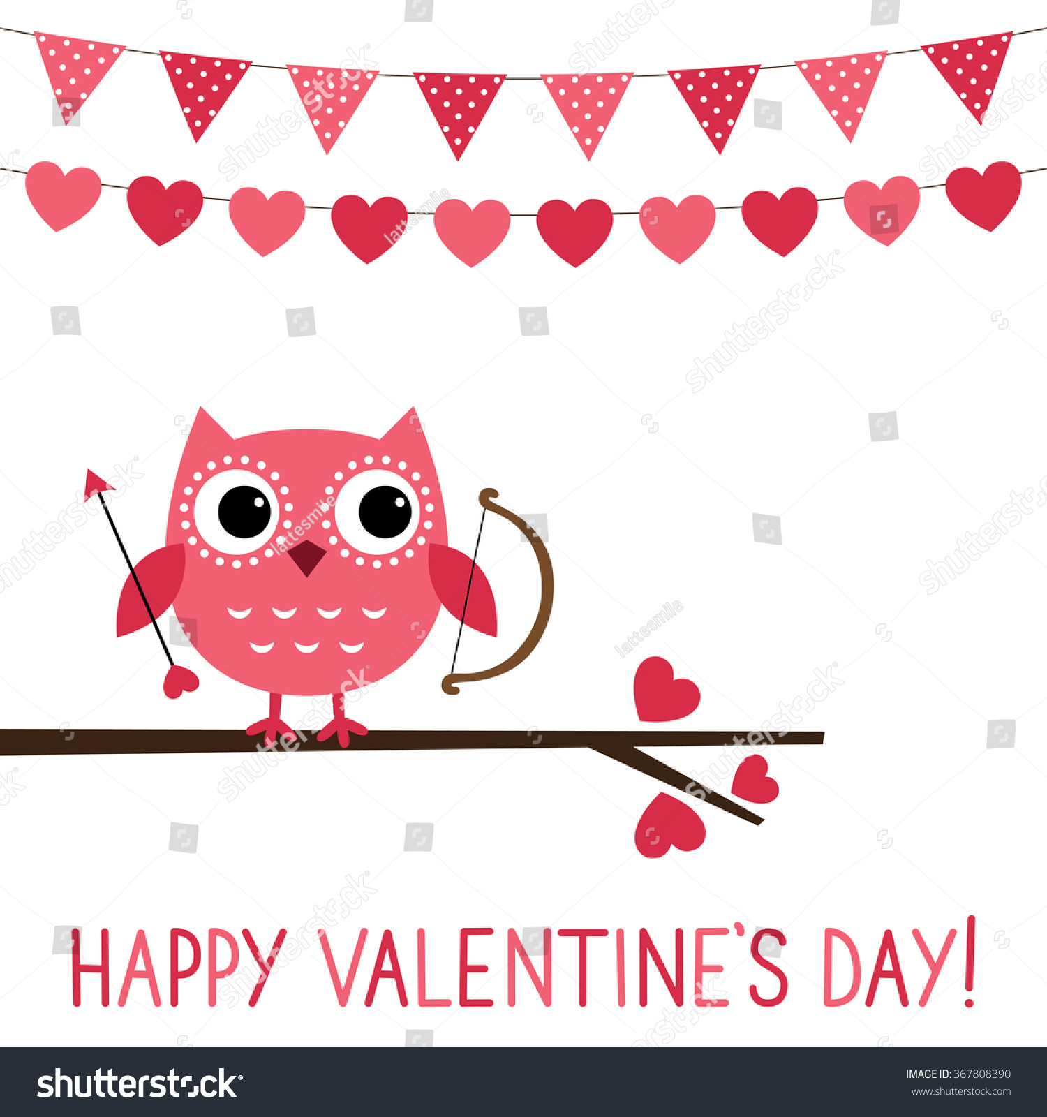 Cute Owl Vector Valentine Card Vector 367808390 Shutterstock – Owl Valentine Card