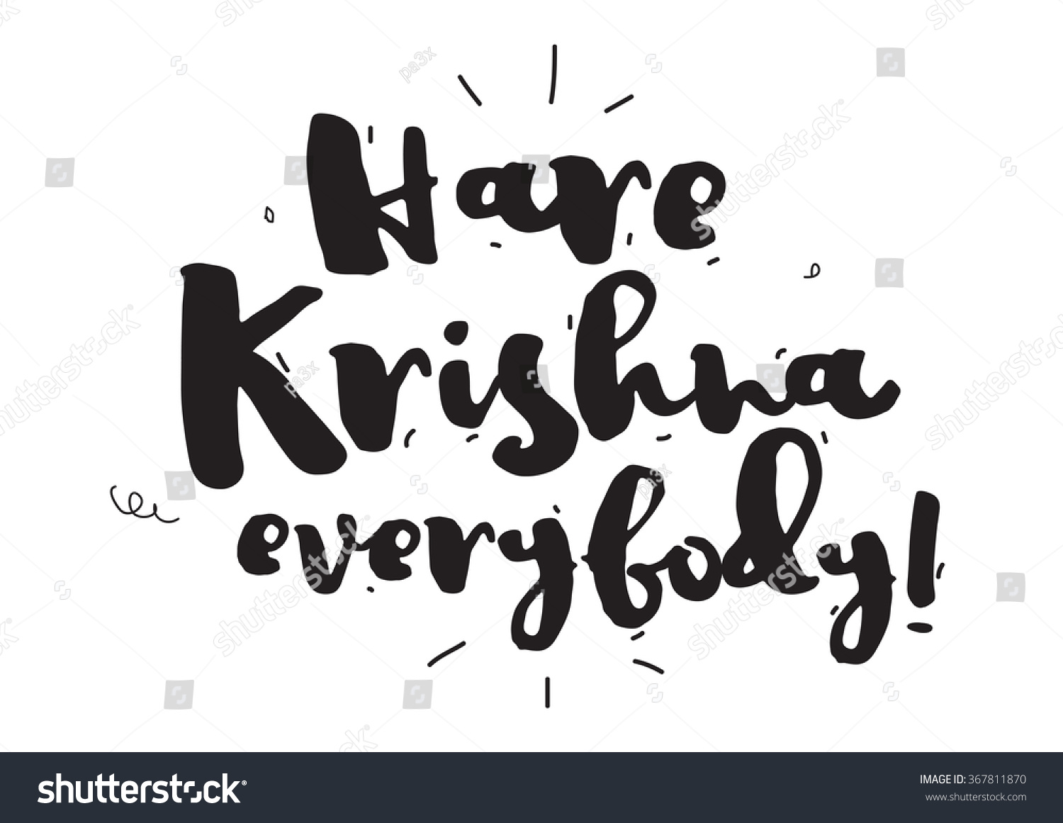 Hare krishna greeting card calligraphy hand stock vector 367811870 hare krishna greeting card with calligraphy hand drawn design elements inspirational quote kristyandbryce Gallery