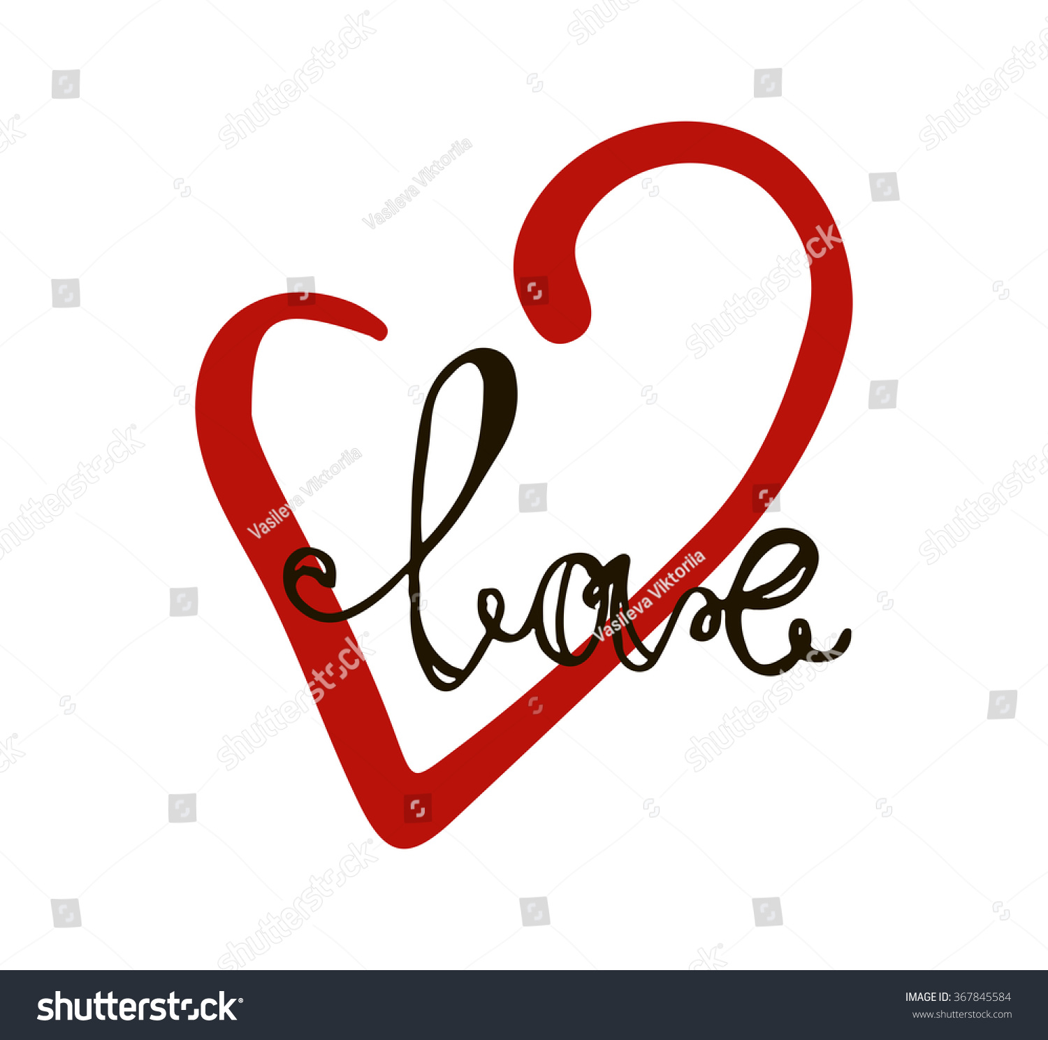 Love Youvalentines Day Greeting Cards Vector Stock Vector 367845584