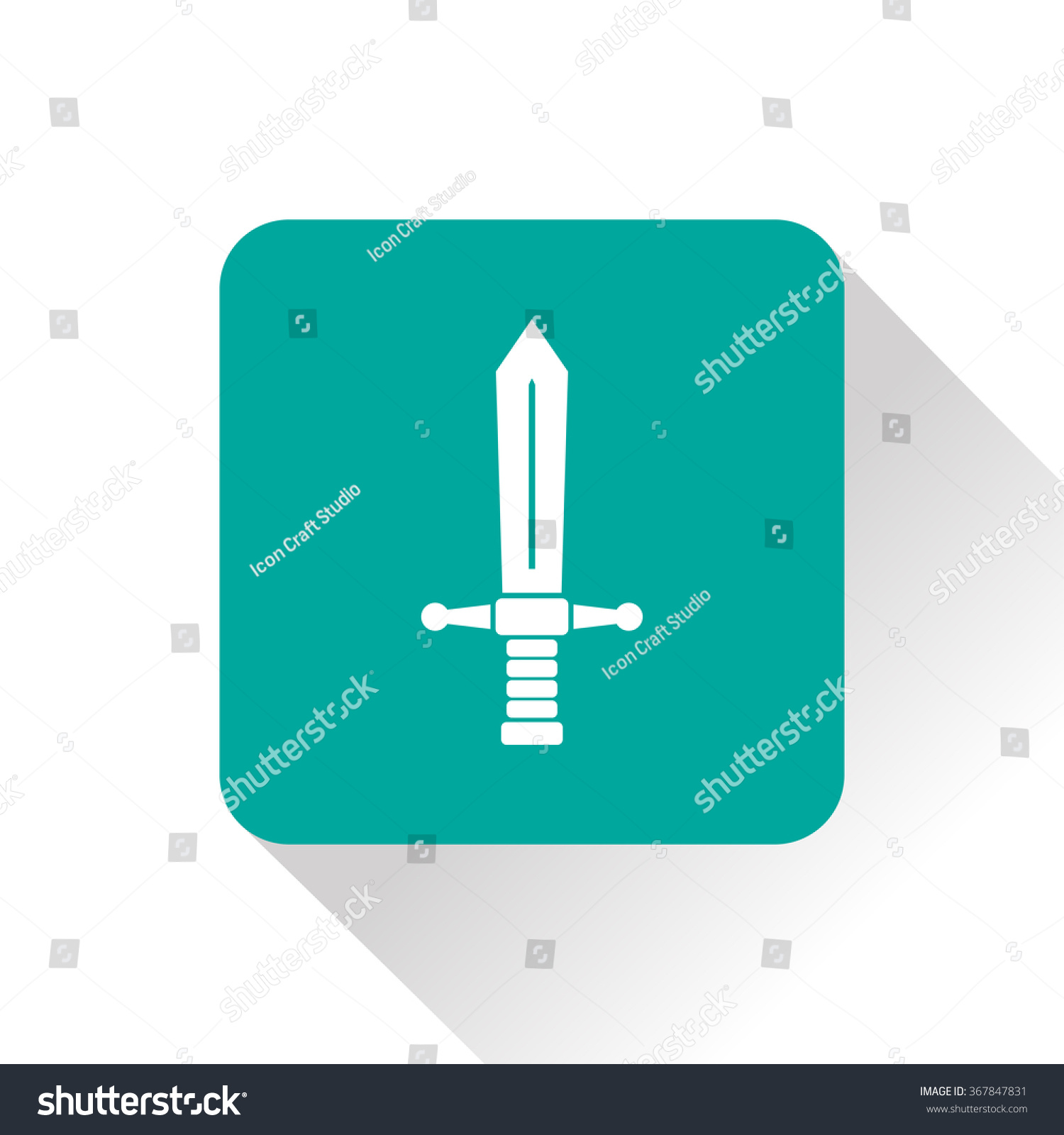 Medieval Sword Vector Icon Stock Vector 367847831 - Shutterstock