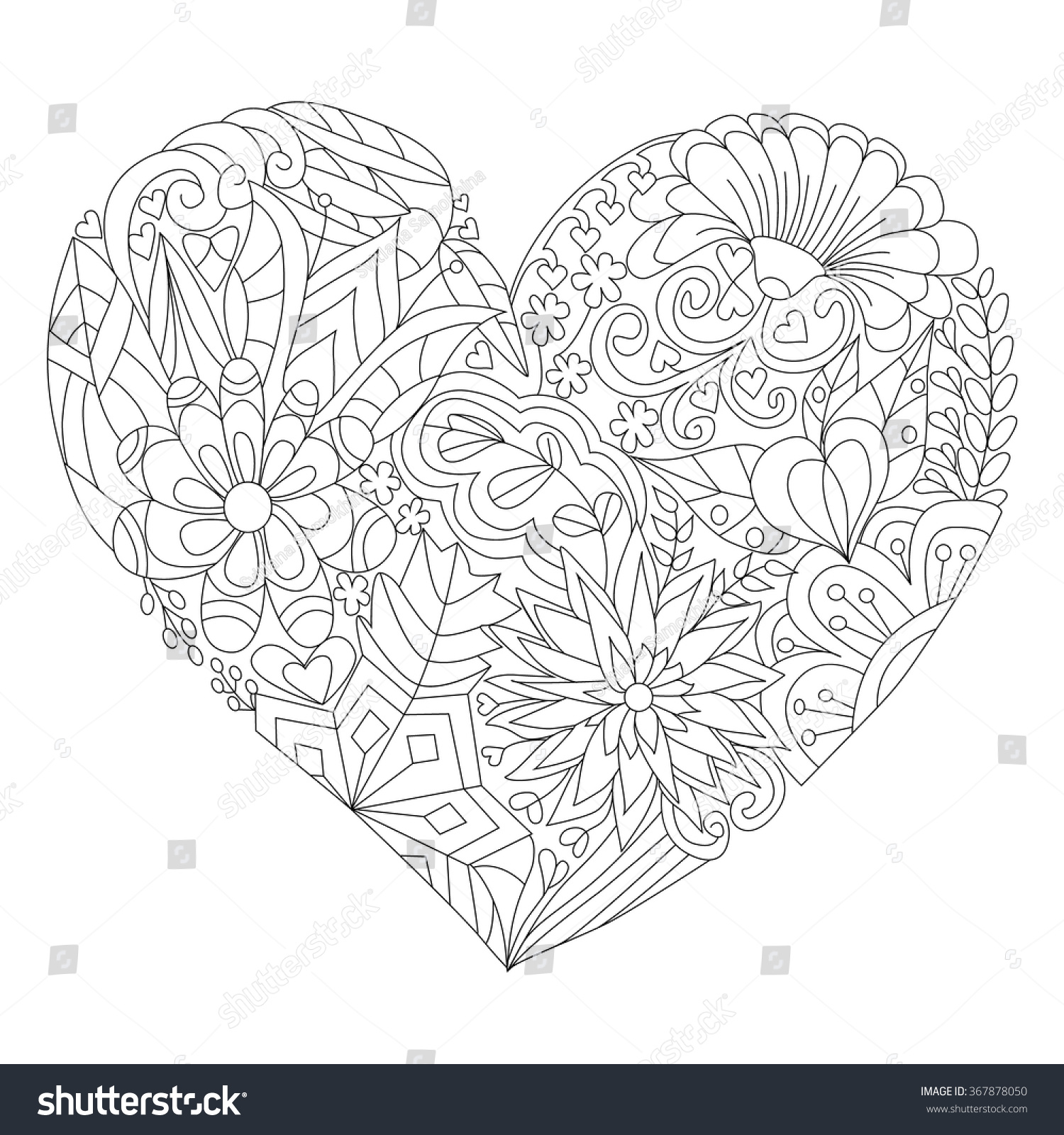 Coloring Book Adult Older Children Coloring Stock Vector (Royalty ...