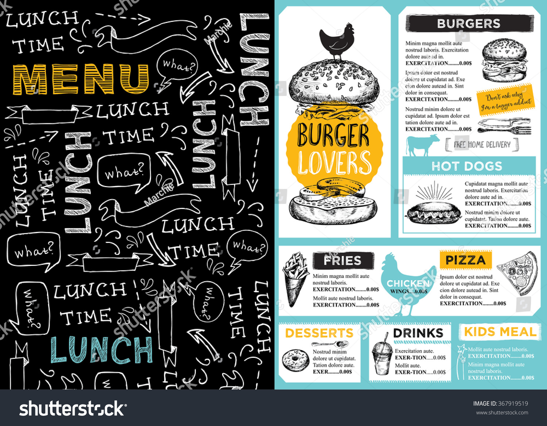 Restaurant brochure vector menu design cafe