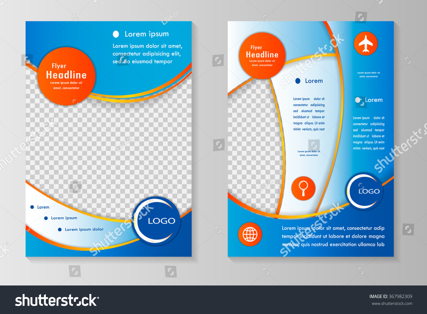 royalty vector flyer template design front 367982309 vector flyer template design front page and back page business brochure or cover