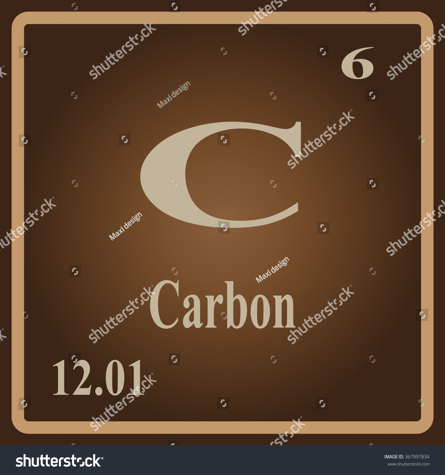 Periodic table elements carbon stock vector 367997834 shutterstock urtaz Image collections