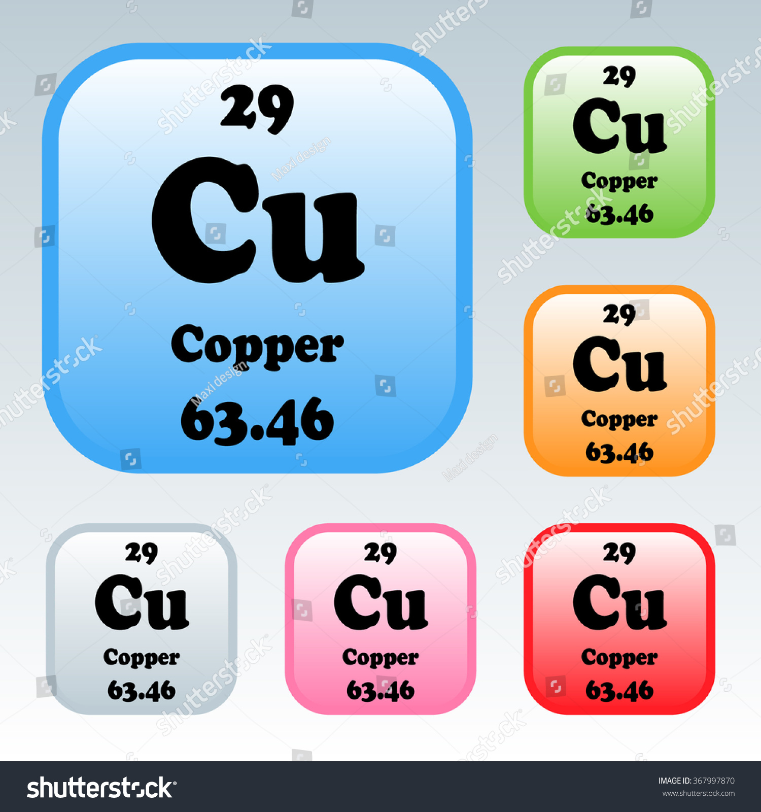Periodic table elements copper stock vector 367997870 shutterstock the periodic table of the elements copper biocorpaavc Choice Image