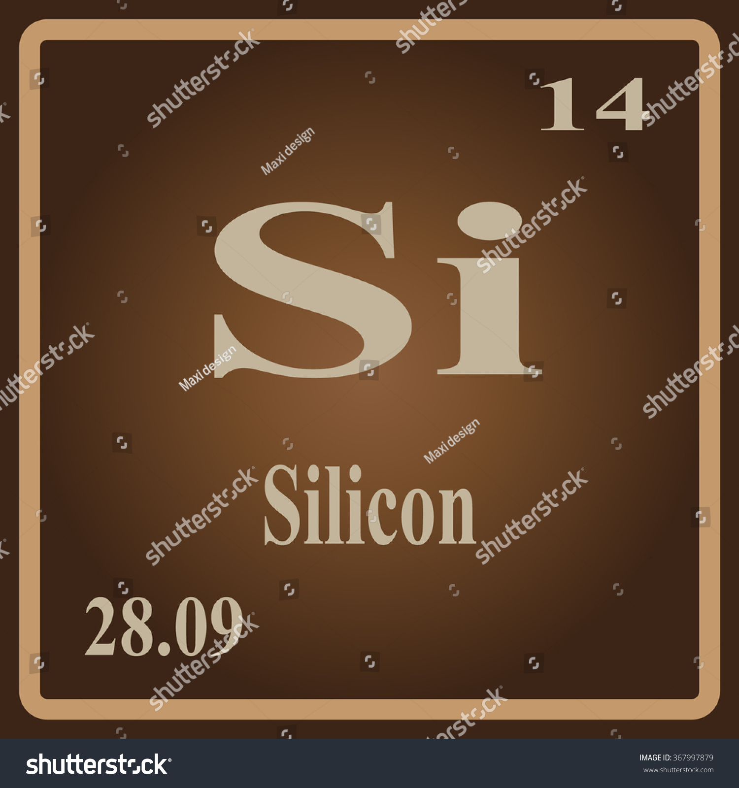 Periodic table elements silicon stock vector 367997879 shutterstock the periodic table of the elements silicon biocorpaavc Gallery
