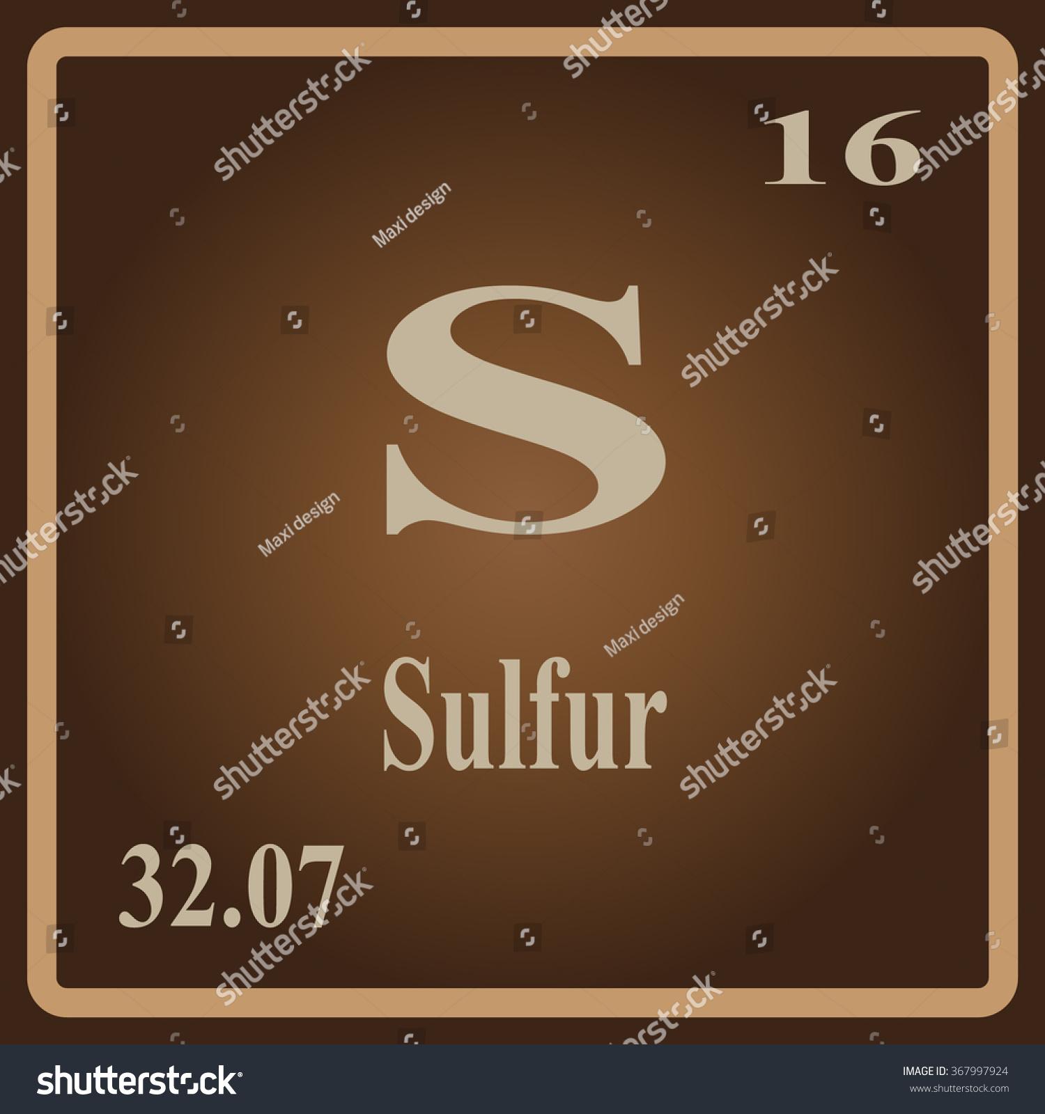 Periodic table elements sulfur stock vector 367997924 shutterstock the periodic table of the elements sulfur gamestrikefo Gallery