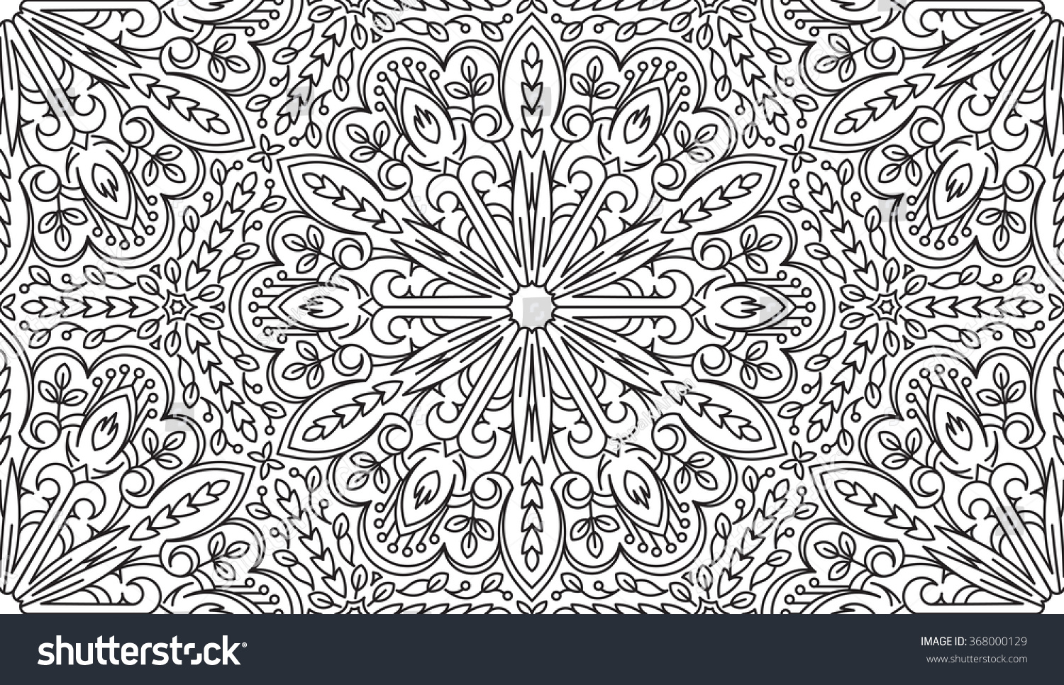 Stock Illustration Volleyball Tribal Abstract Vector: Seamless Abstract Tribal Blackwhite Pattern Hand 스톡 벡터