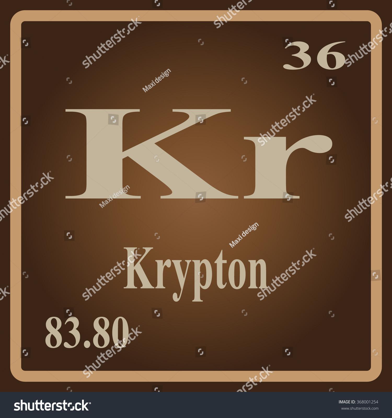 Periodic Table Elements Krypton Stock Vector 368001254 Shutterstock