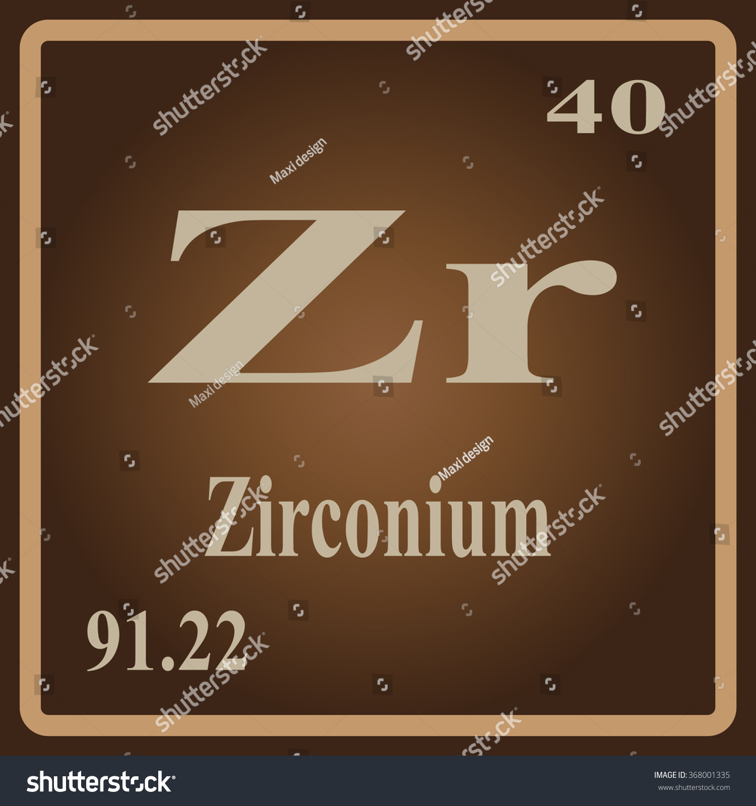 Periodic table elements zirconium stock vector 368001335 the periodic table of the elements zirconium urtaz Gallery