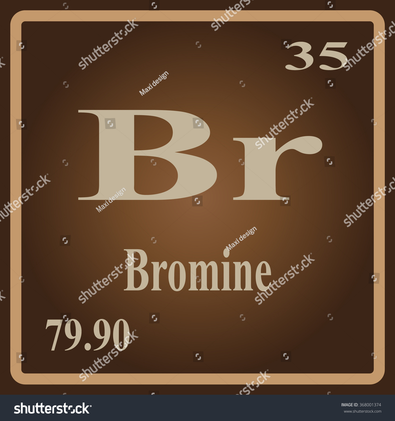 Periodic table elements bromine stock vector 368001374 shutterstock the periodic table of the elements bromine biocorpaavc