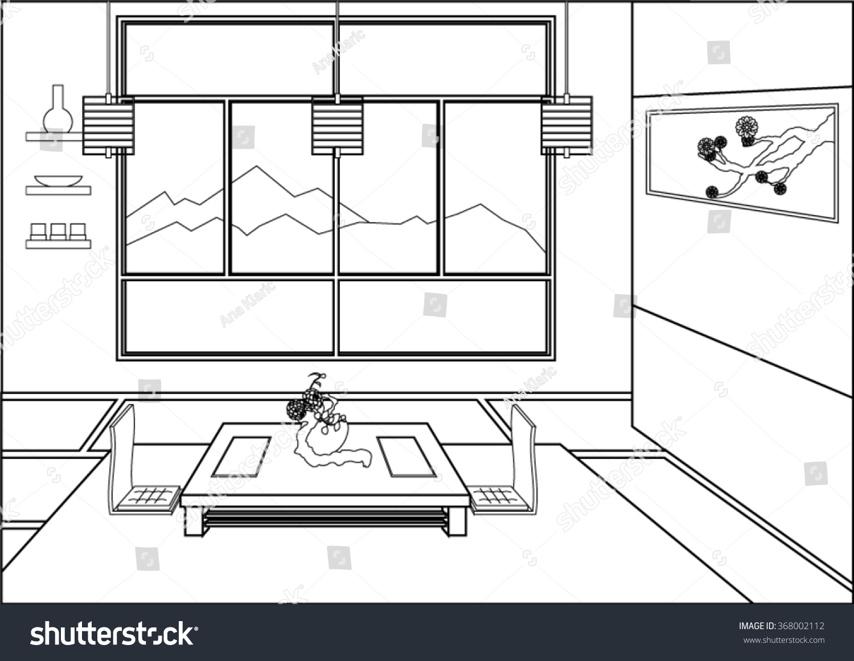 Ze zen inspiration coloring book - Coloring Book Page For Grownups Zen Room