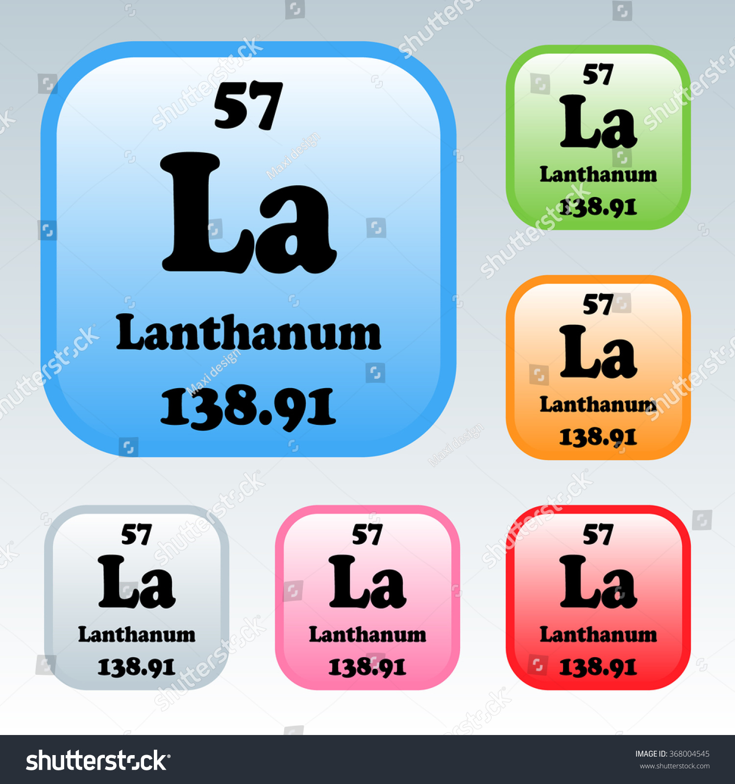 Periodic table elements lanthanum stock vector 368004545 the periodic table of the elements lanthanum gamestrikefo Gallery
