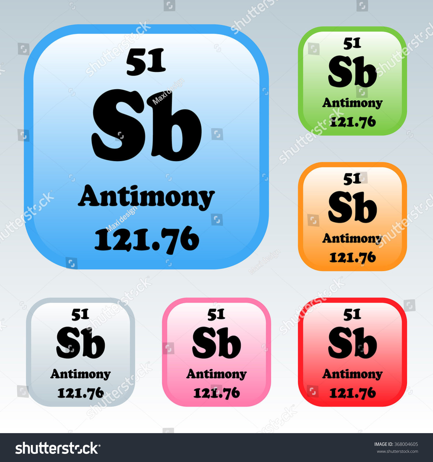 Periodic table elements antimony stock vector 368004605 shutterstock the periodic table of the elements antimony gamestrikefo Choice Image