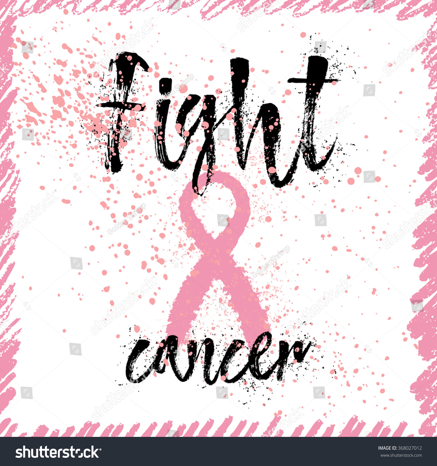 Breast Cancer Inspirational Quotes Fight Cancer Inspirational Quote About Breast Stock Vector
