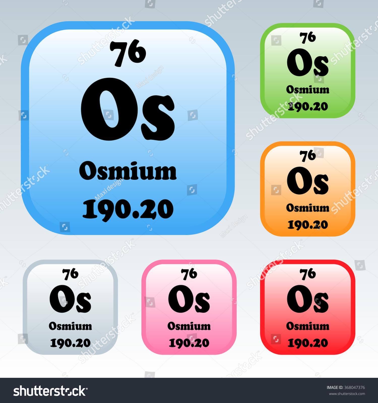 Periodic table elements osmium stock vector 368047376 shutterstock the periodic table of the elements osmium urtaz Images