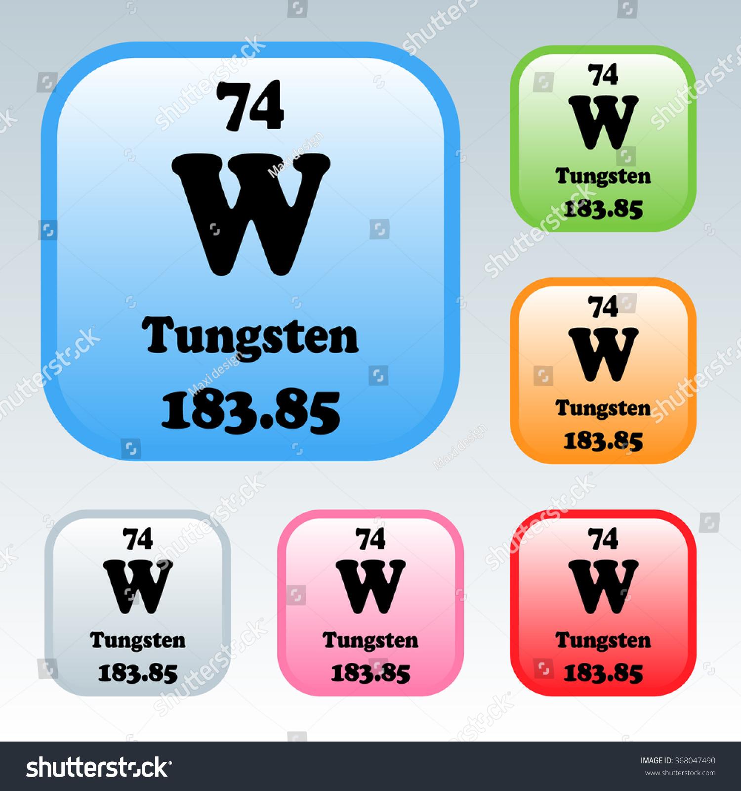 Periodic table elements tungsten stock vector 368047490 shutterstock the periodic table of the elements tungsten urtaz Gallery