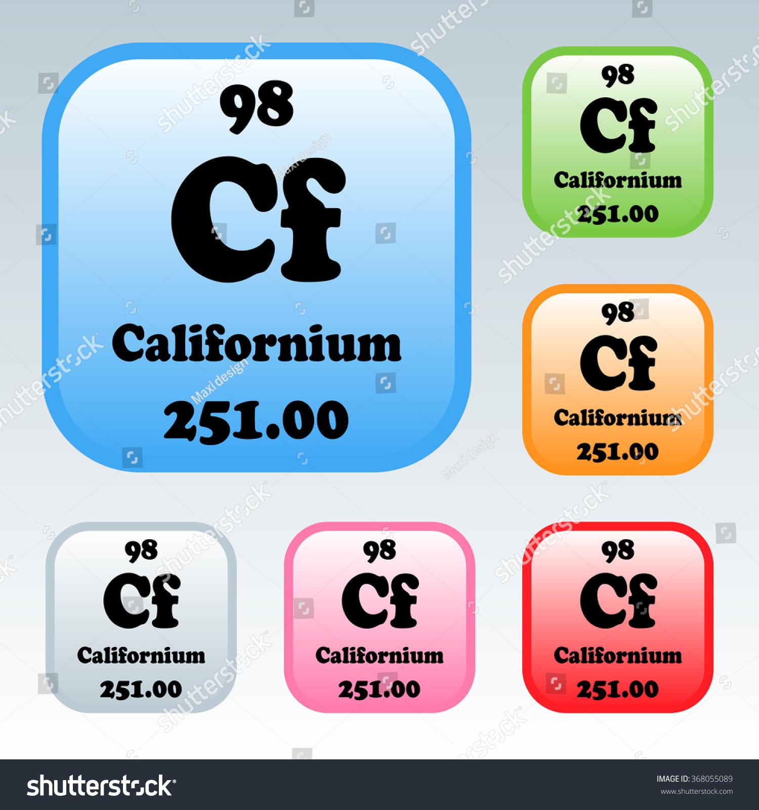 Periodic table elements californium stock vector 368055089 the periodic table of the elements californium gamestrikefo Images