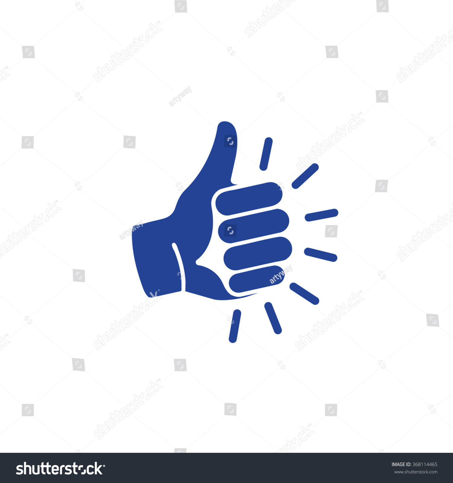 Isolated Blue Vector Gesture Logo Like Stock Vector Royalty Free