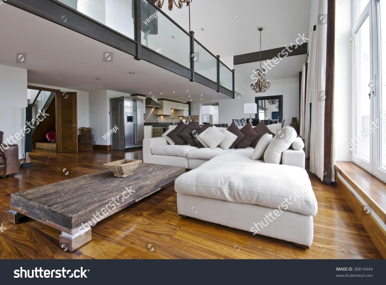 Open Plan Living Designs open plan living room luxury duplex stock photo 36814444