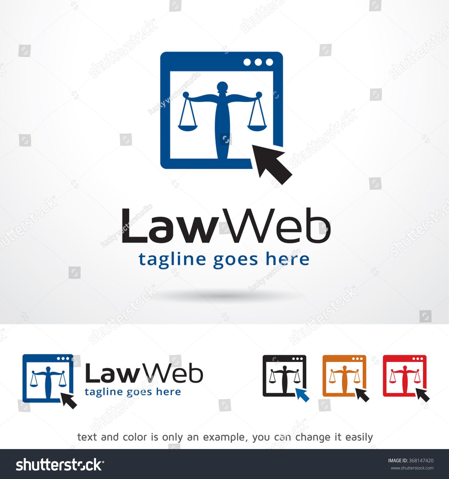 law web logo template design vector 368147420 shutterstock. Black Bedroom Furniture Sets. Home Design Ideas
