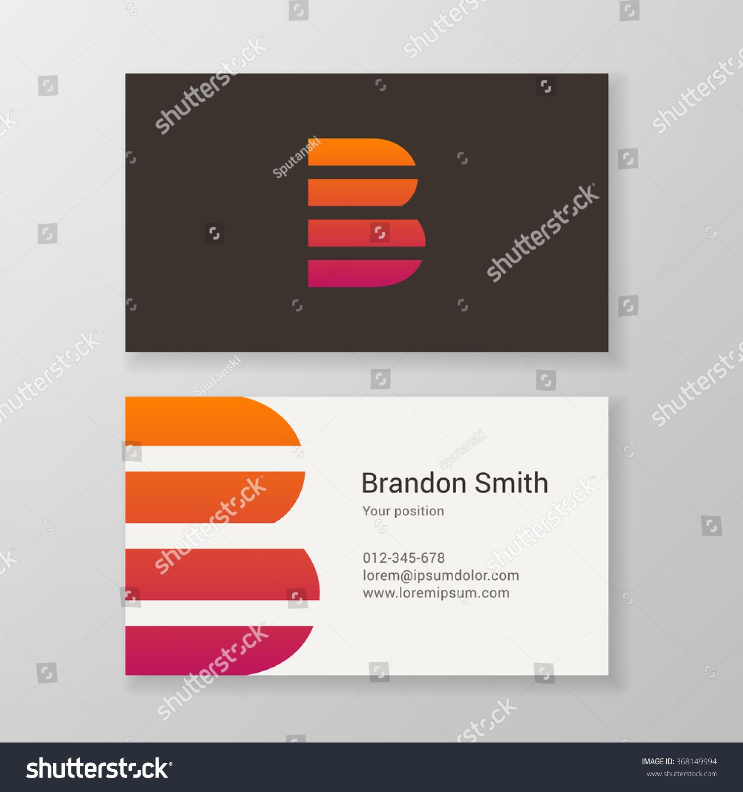 Design Icon Letter B Stripes Business Stock Vector