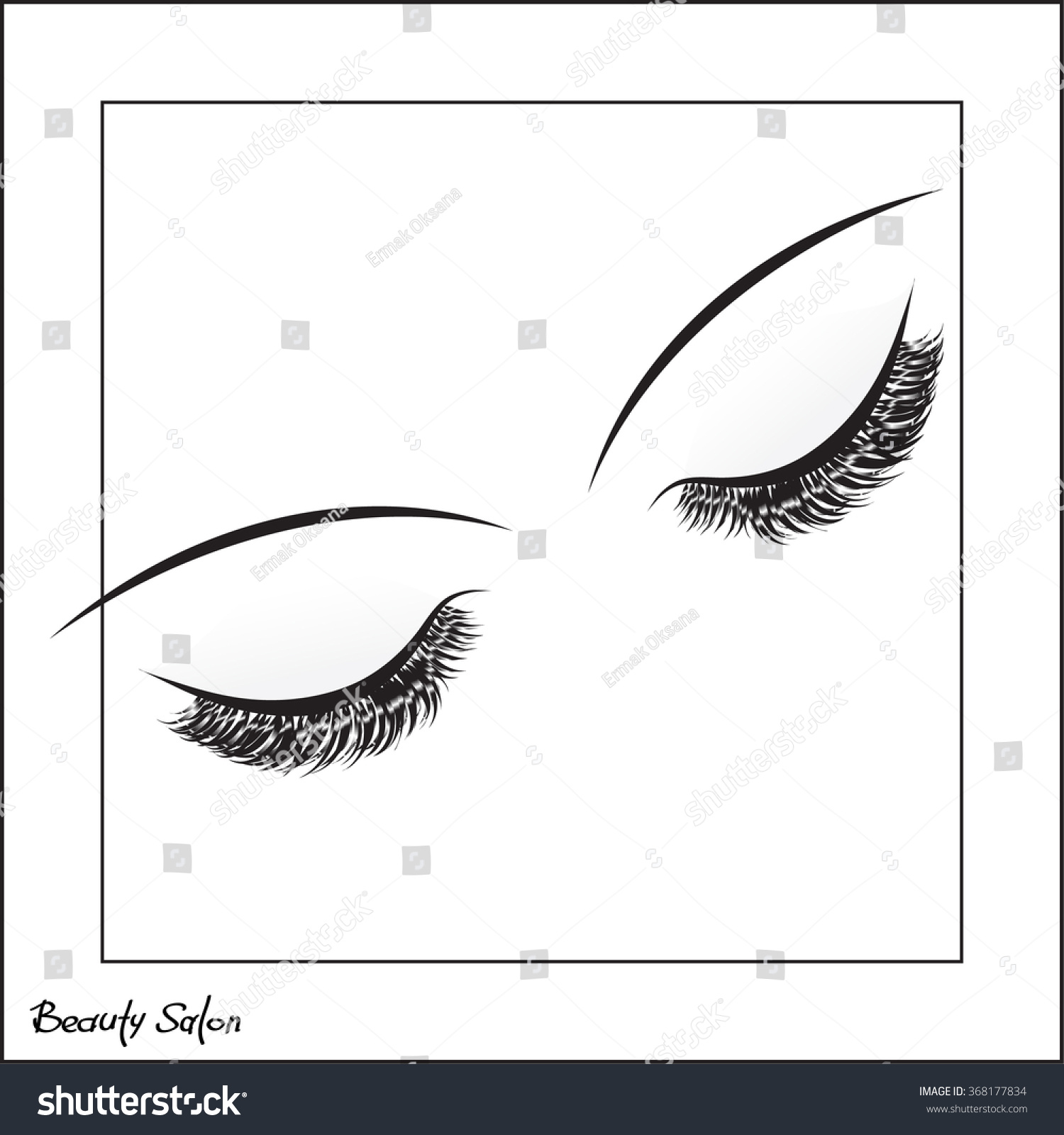 Vector eye make long lashes on stock vector 368177834 shutterstock vector eye with make up and long lashes on white background beauty salon logo magicingreecefo Image collections