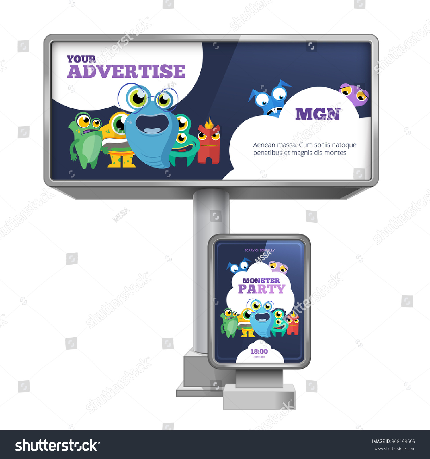 outdoor advertising billboard citylight template design stock outdoor advertising billboard and citylight template design advertisement stationery commercial marketing vector