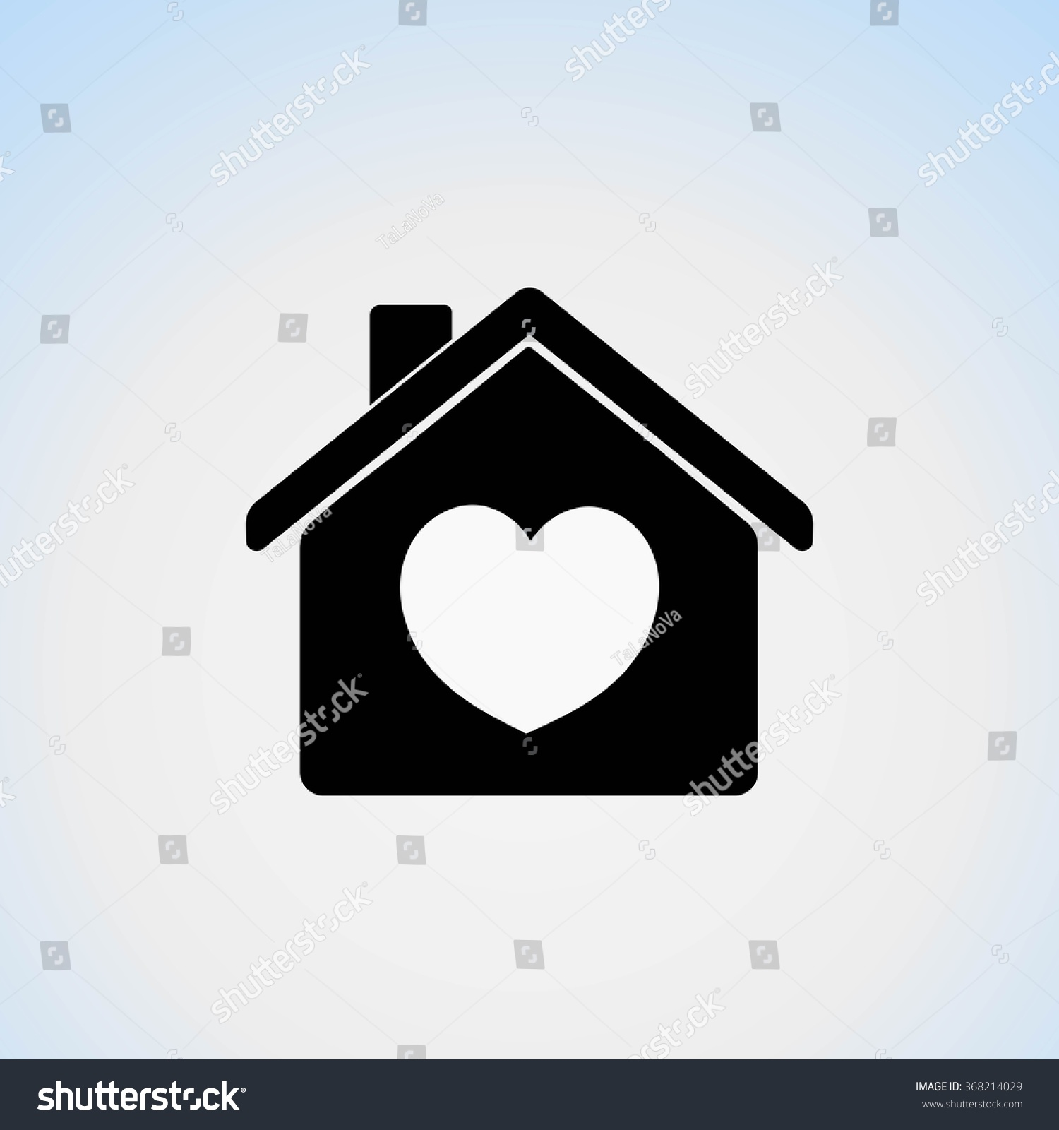 Icon house heart symbol his home stock vector 368214029 shutterstock icon house with a heart as a symbol of his home where warmth and comfort biocorpaavc Images