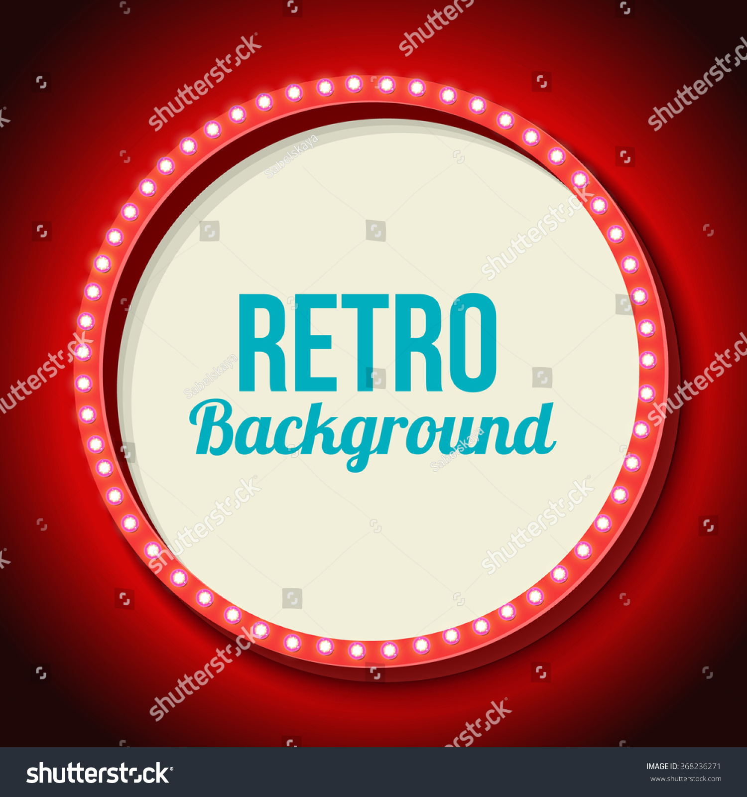 Red Retro Frame Lights Round 3 D Stock Vector HD (Royalty Free ...