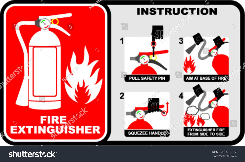 fire extinguisher sign vector stock vector 368237972