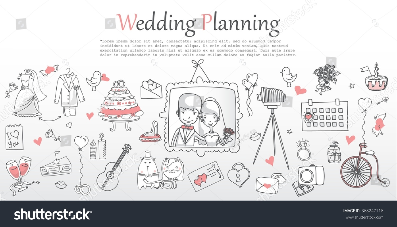 Doodle Line Design Web Banner Template Stock Vector 368247116 ...