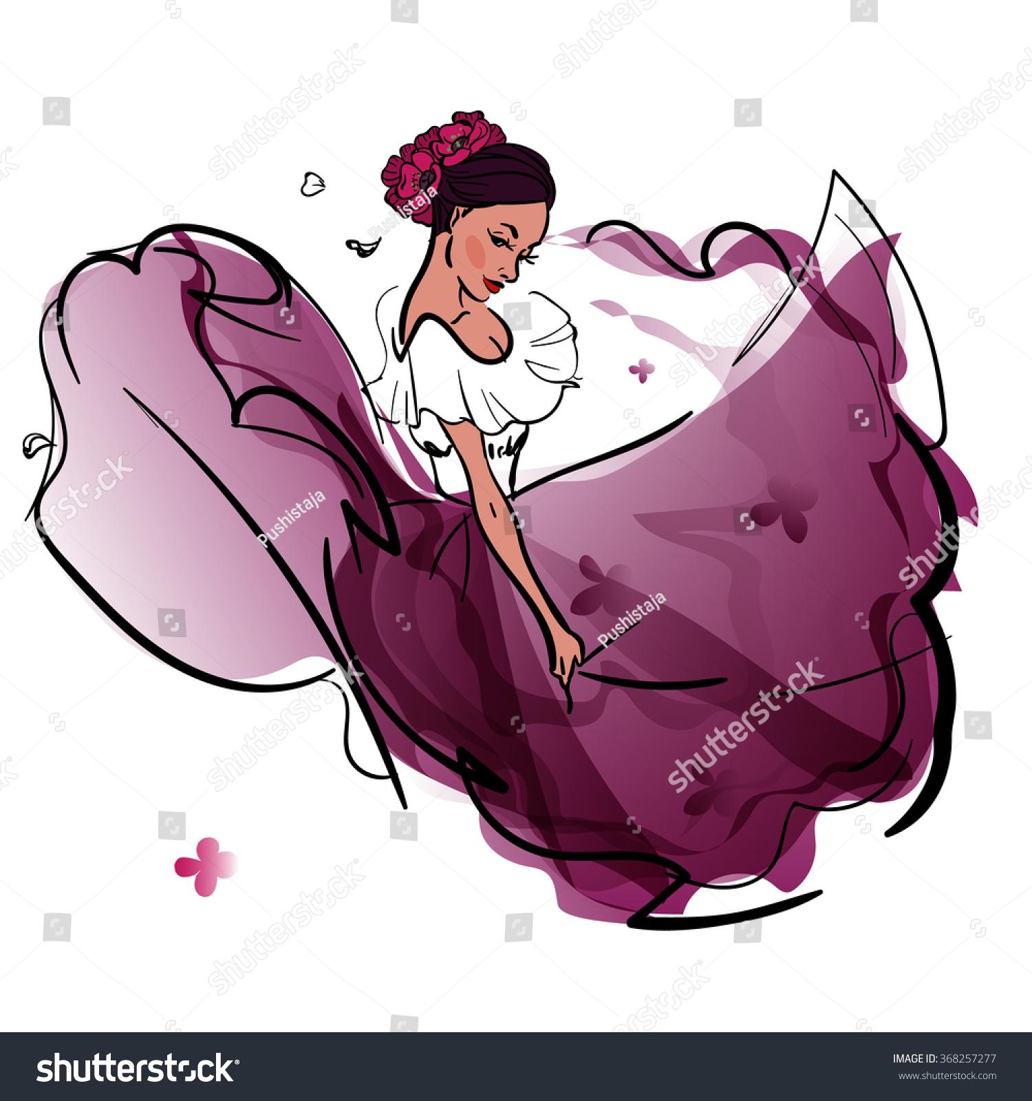 Mexico National Dance Vector Illustration Vector de stock368257277 ...