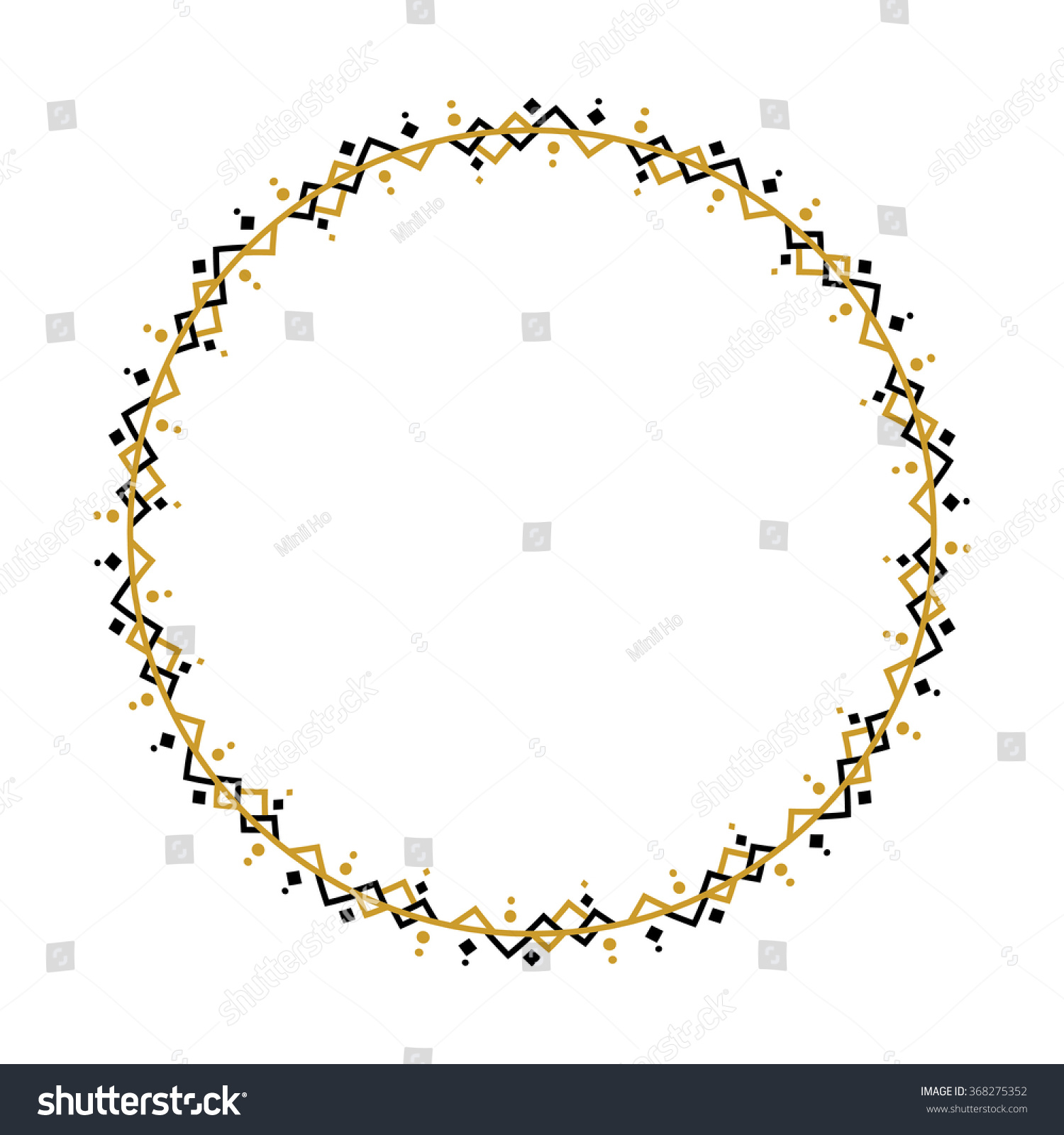 Custom Made Frame Black Gold On Stock Vector (Royalty Free ...