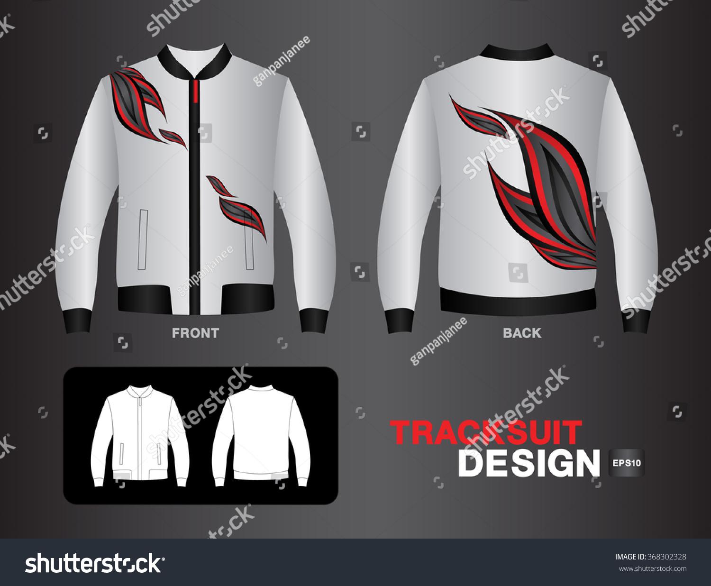 Shirt uniform design vector - White Tracksuit Design Vector Illustration Leather Jacket Sport T Shirt Uniform Design Clothes Vector Design