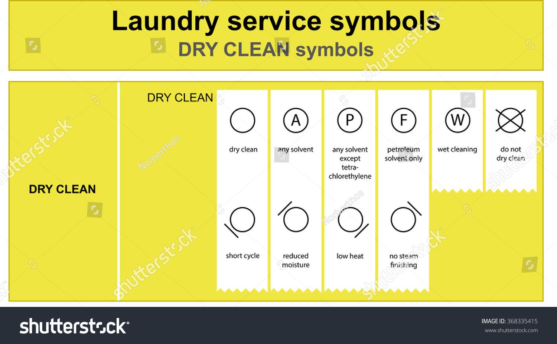 Guide Laundry Service Symbols Laundry Service Stock Vector Royalty