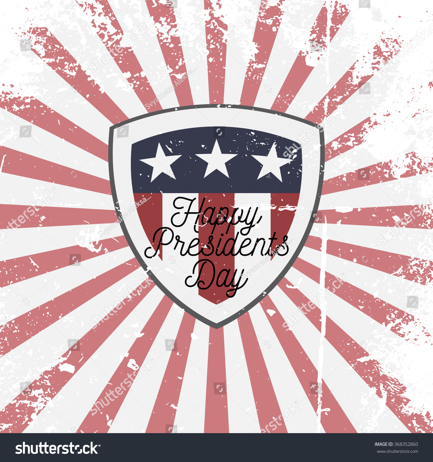 happy presidents day vector shield sign stock vector