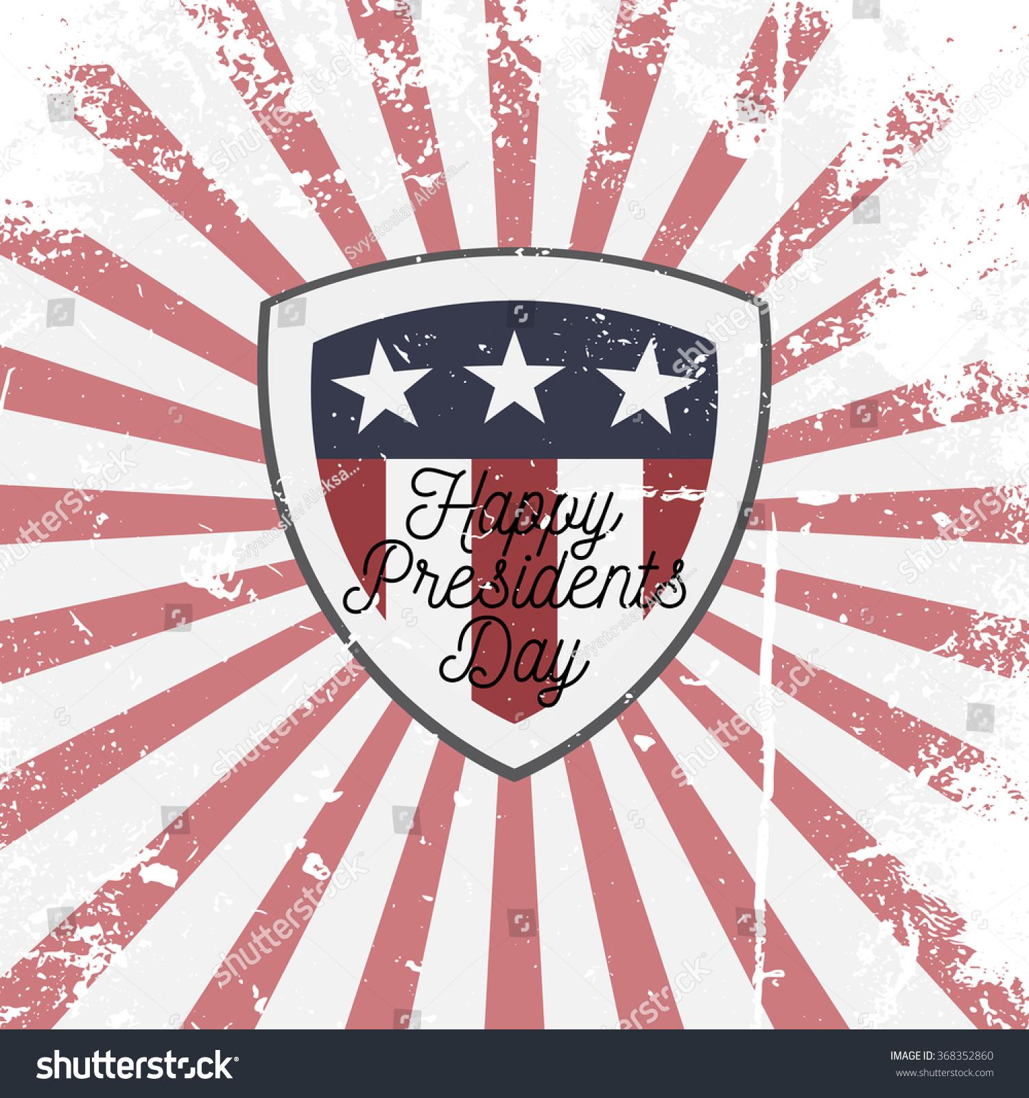 happy presidents day vector shield sign stock vector