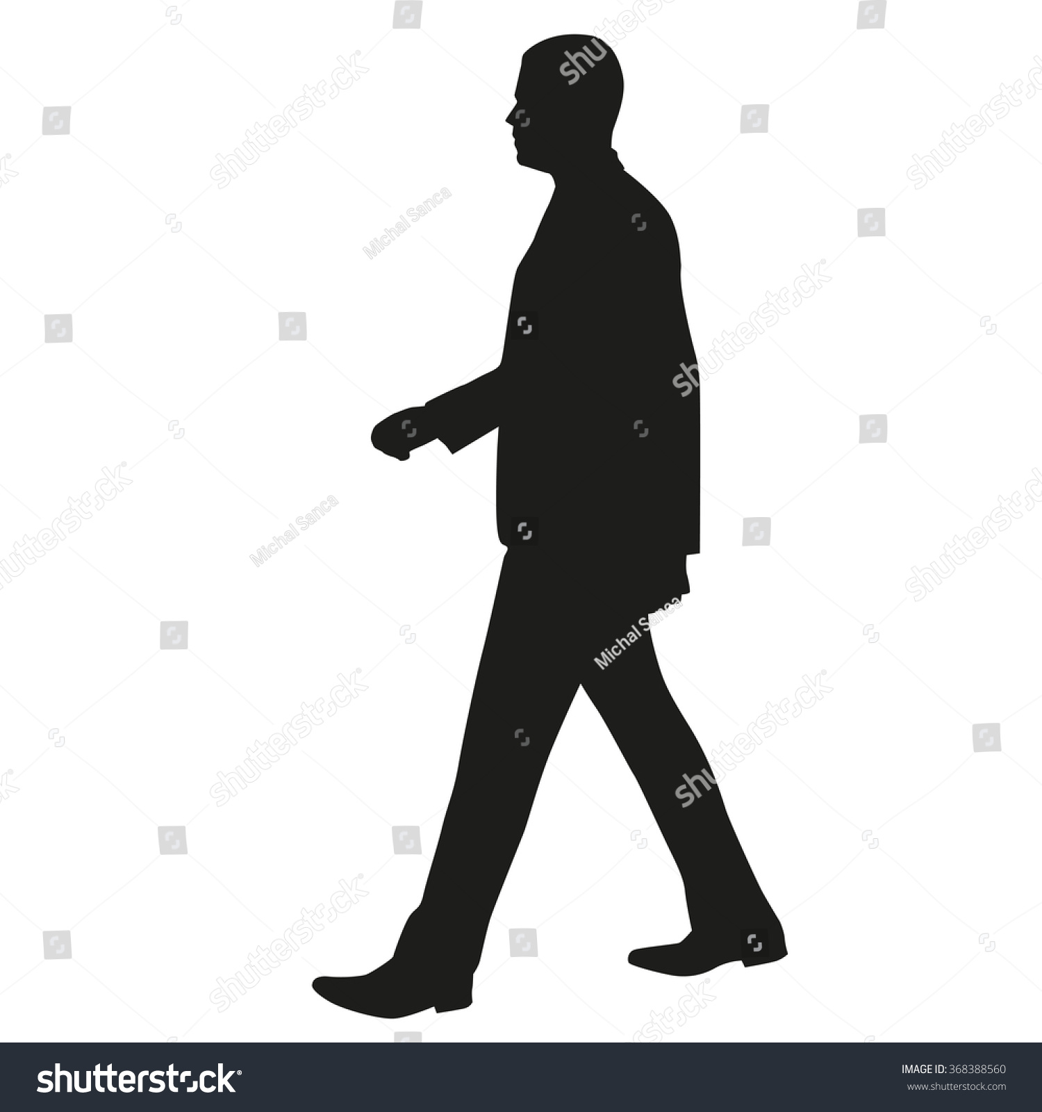 Human walking side view