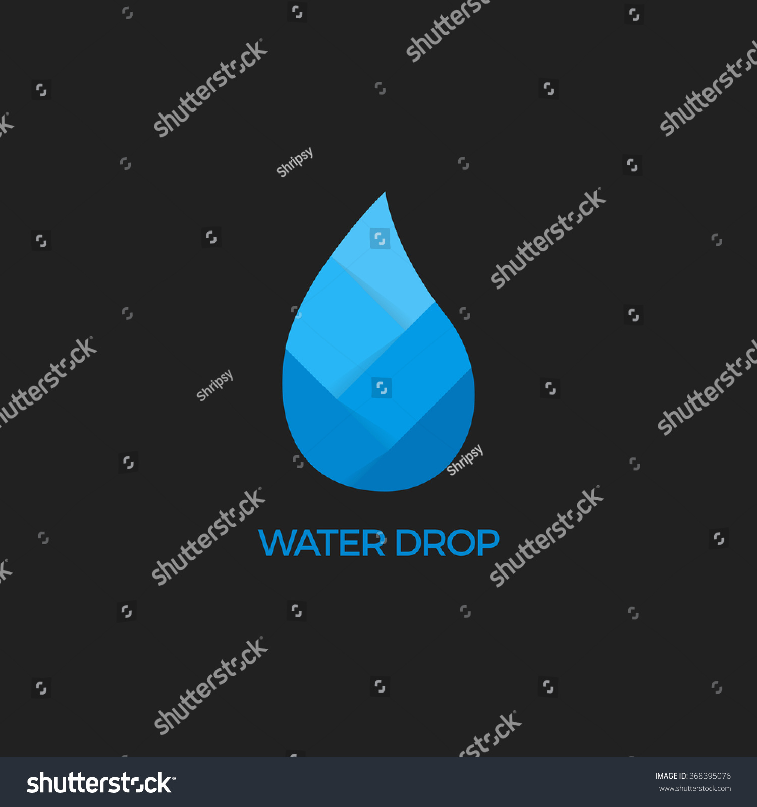 Water Drop Isolated Logo Drop Abstract Stock Vector ... - photo#21