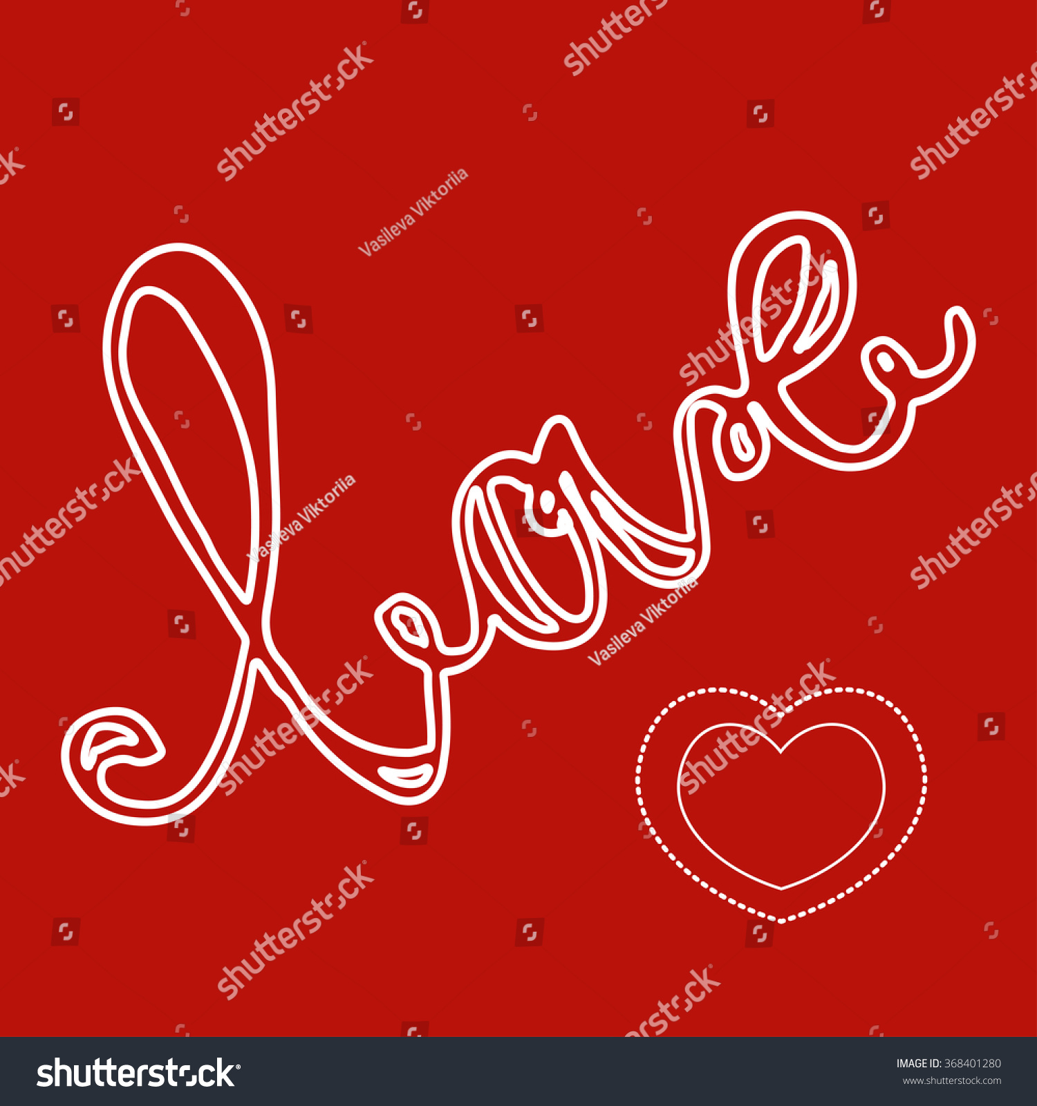 Love You Valentines Day Greeting Cards Vector Stock Vector Royalty