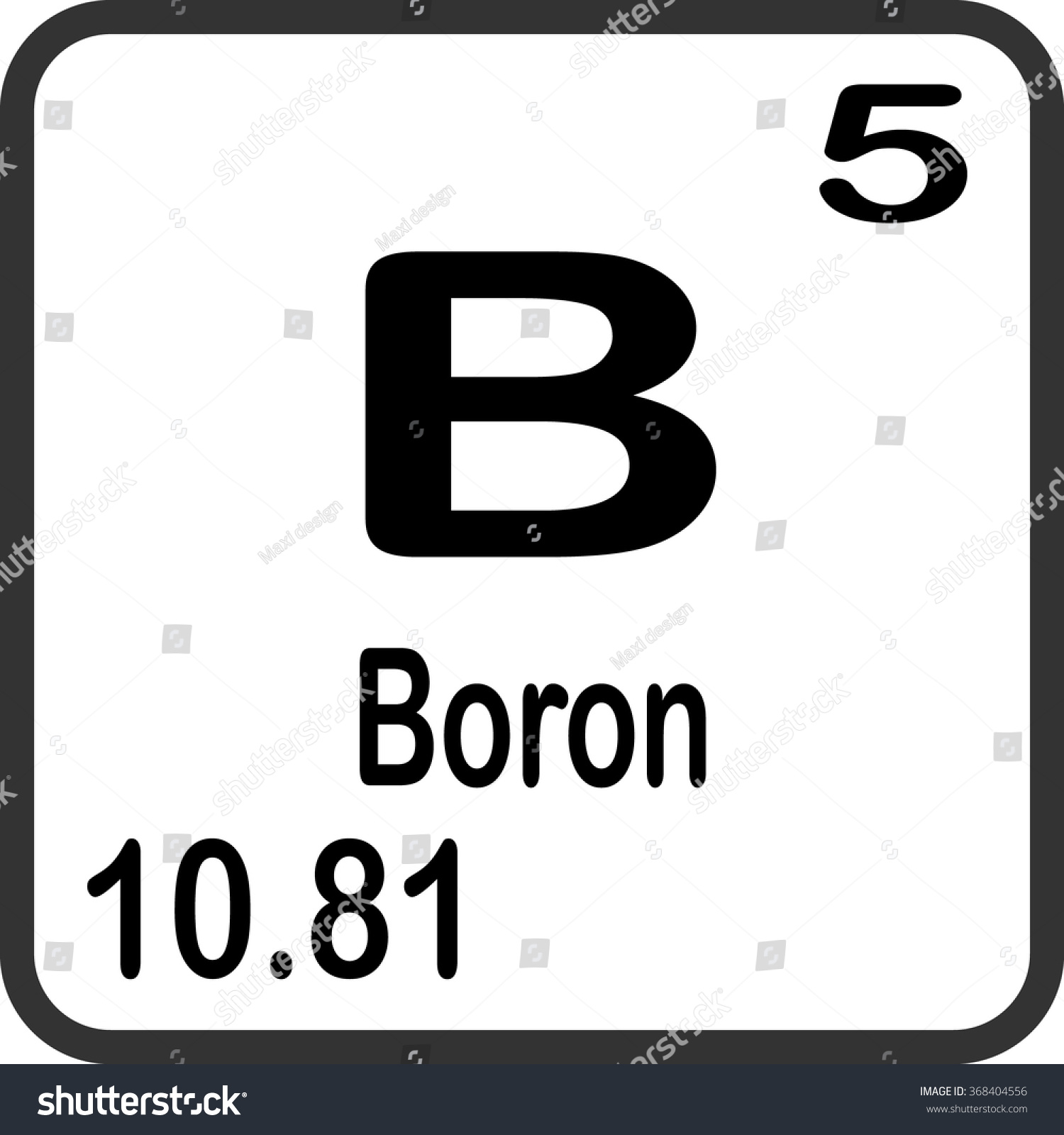 Periodic table elements boron stock vector 368404556 shutterstock buycottarizona