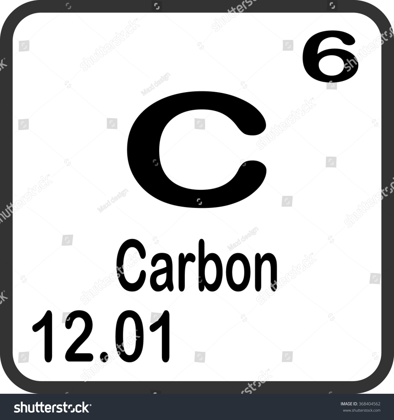 Periodic Table Elements Carbon Stock Vector Royalty Free 368404562