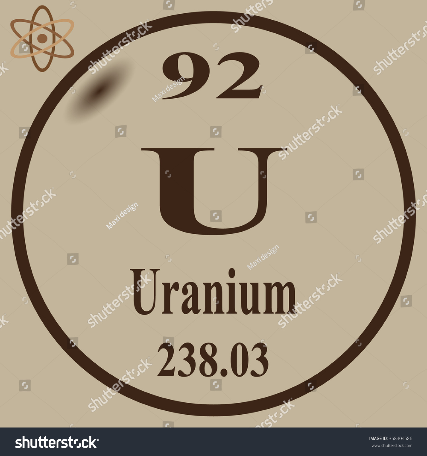 Periodic table elements uranium stock vector 368404586 shutterstock periodic table of elements uranium gamestrikefo Image collections
