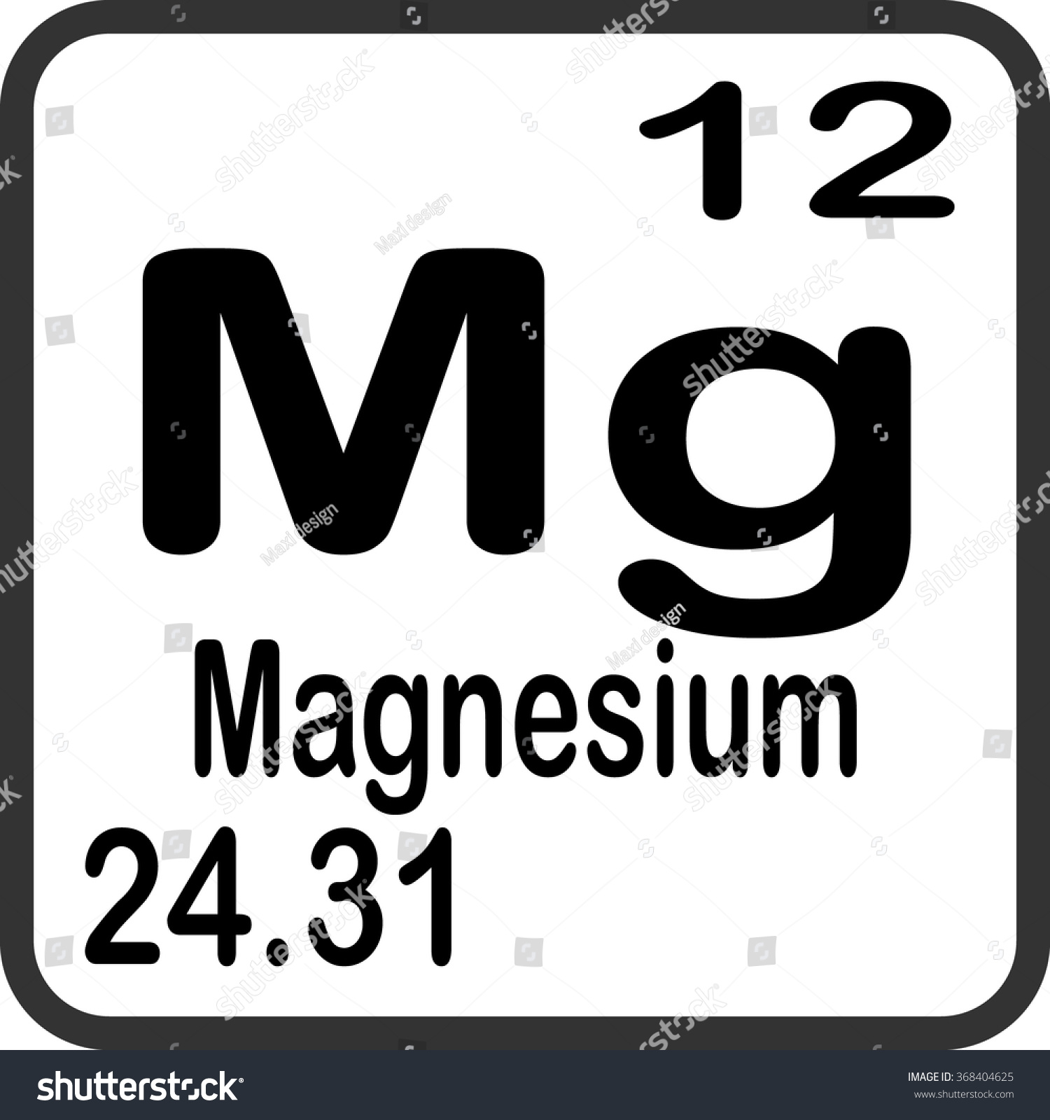 Periodic table elements magnesium stock vector 368404625 periodic table of elements magnesium gamestrikefo Gallery
