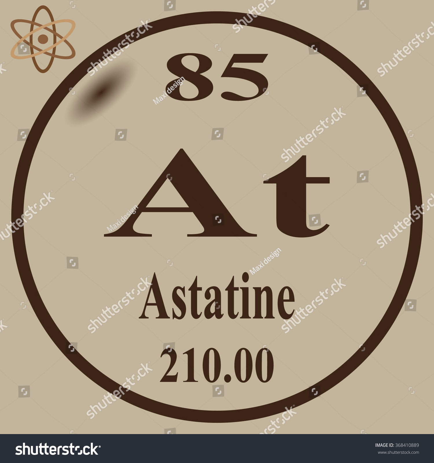 Periodic table elements astatine stock vector 368410889 shutterstock periodic table of elements astatine gamestrikefo Image collections